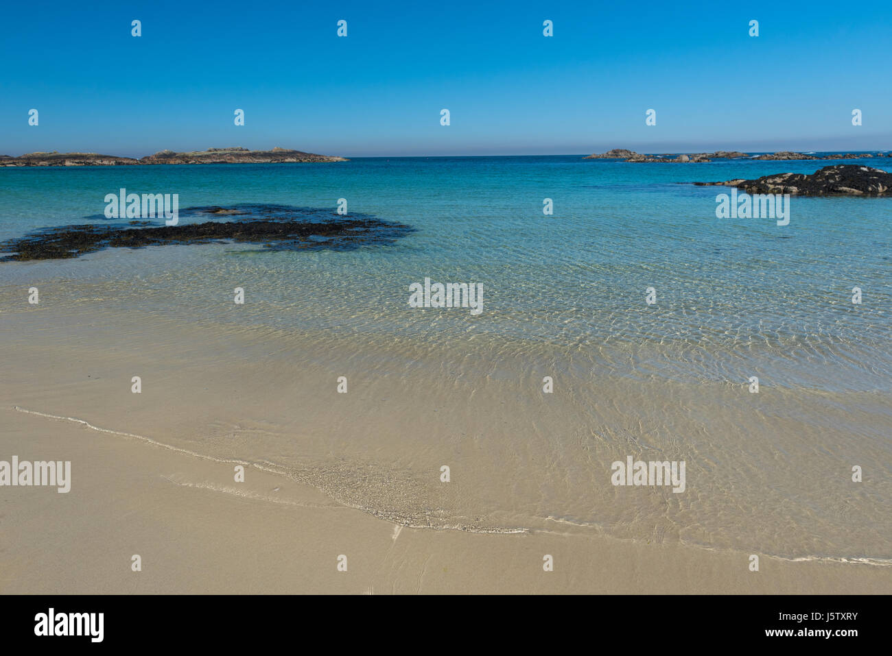 Strain Beach on the north-west coast of the hebridean Isle of Coll. Scotland - Stock Image
