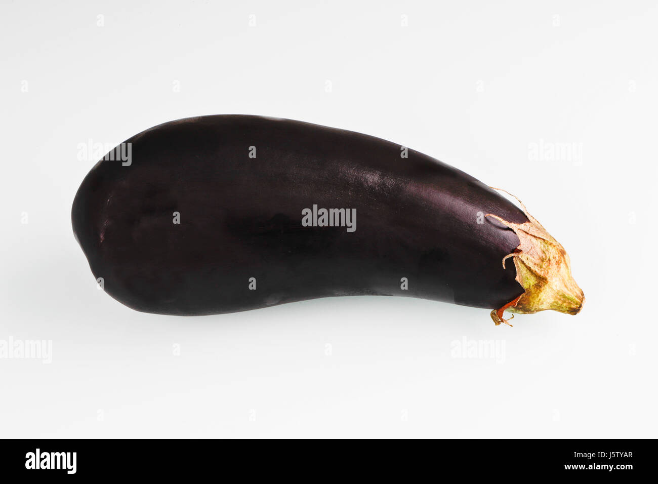 Eggplant, Solanum melongena cut out on white background Stock Photo