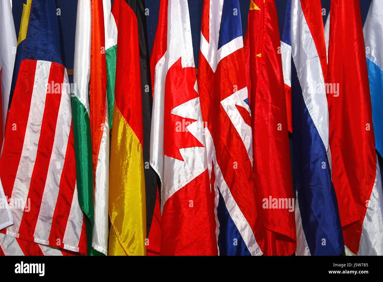 Photo of assorted flags of different countries Stock Photo