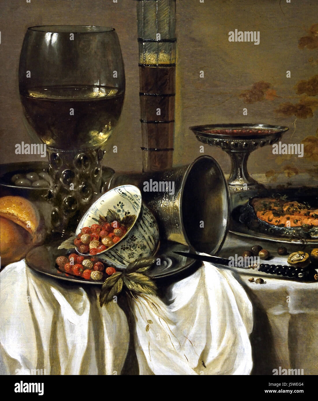 Still Life with Drinking Vessels 1649 Pieter Claesz 1597/8 - 1660 Dutch The Netherlands - Stock Image