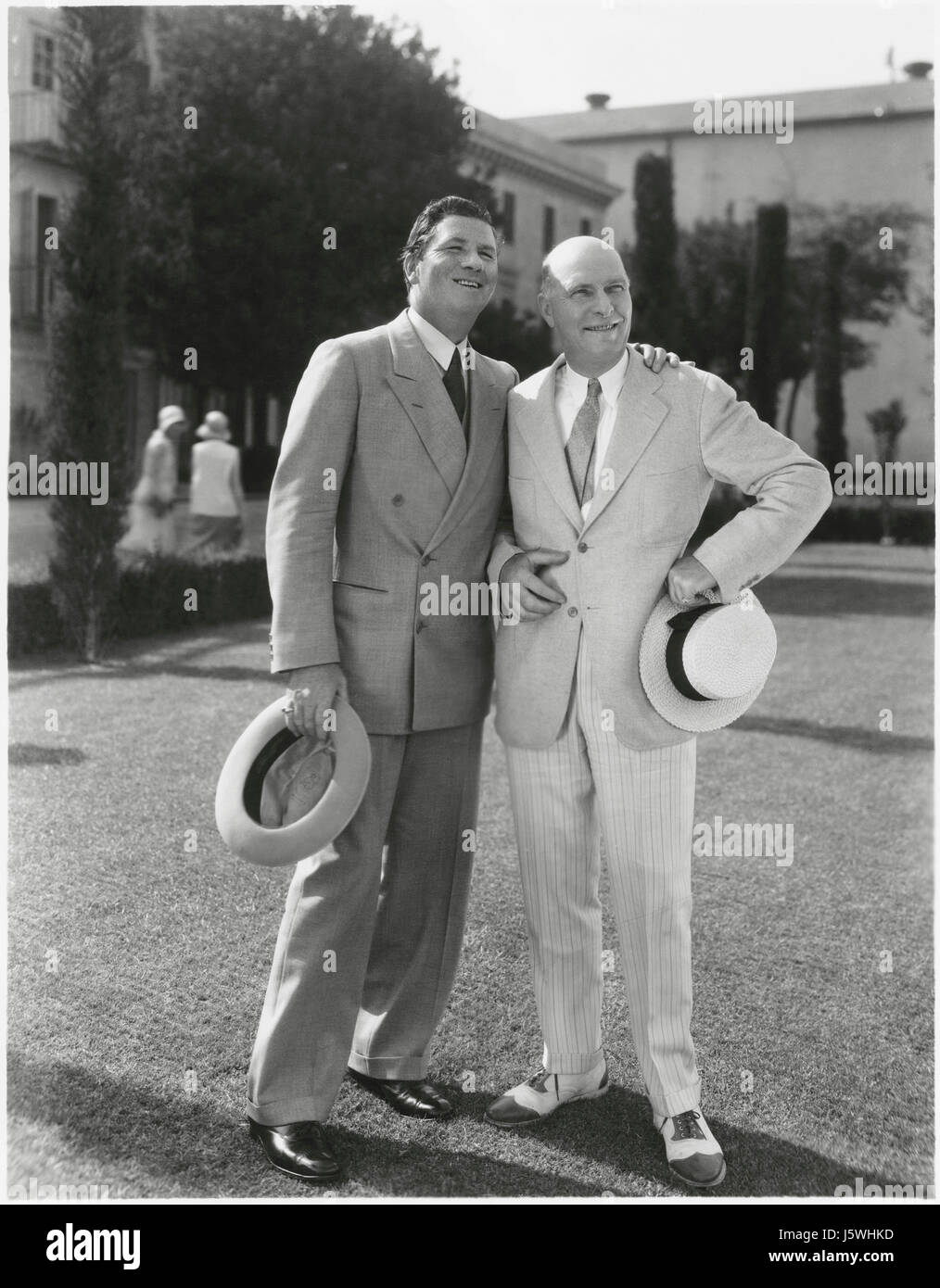 Actor George Bancroft, Portrait with Unidentified Man, 1930's - Stock Image
