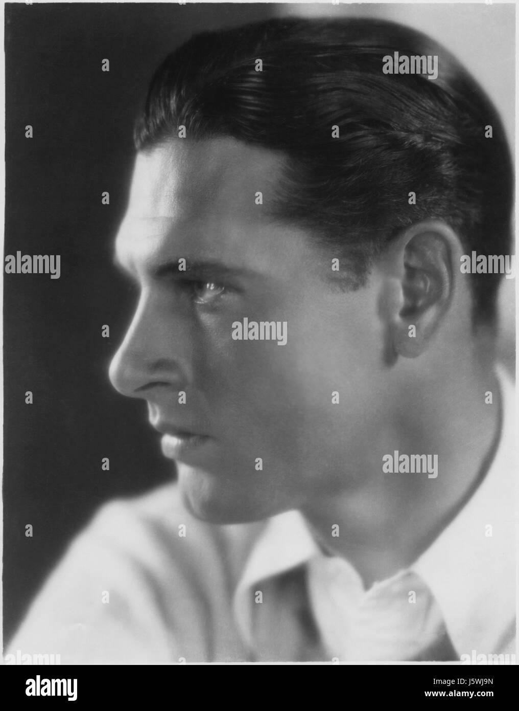 Actor Richard Arlen, Publicity Portrait Looking Right, 1920's - Stock Image