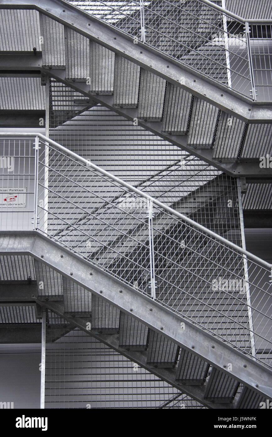 Stairs Steel Railing Steps Stairs Steel Hospital Parking Garage Railing