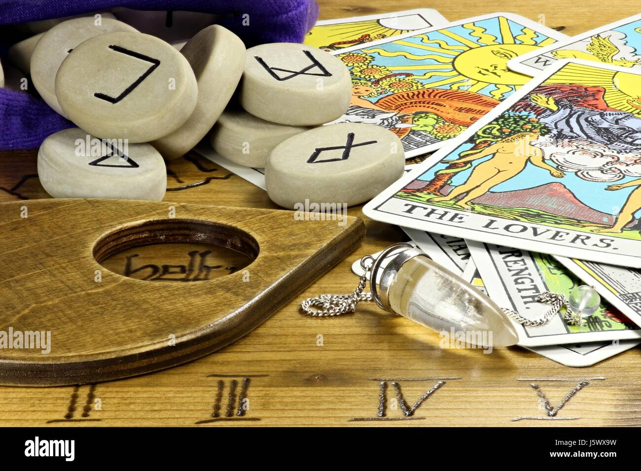 fortune telling accessories - Stock Image