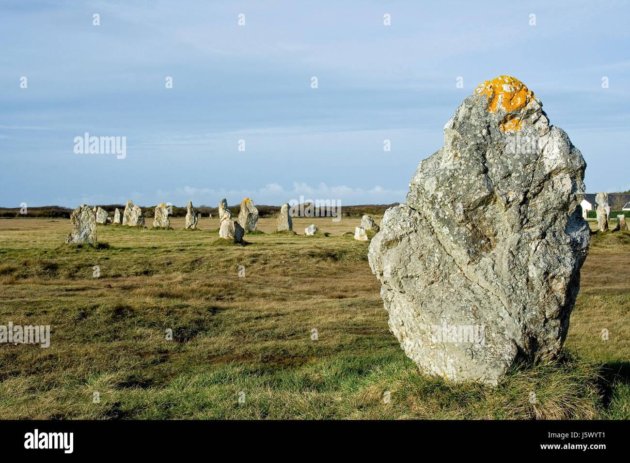 stone rock france prehistory monument stone rock france archeology prehistory - Stock Image