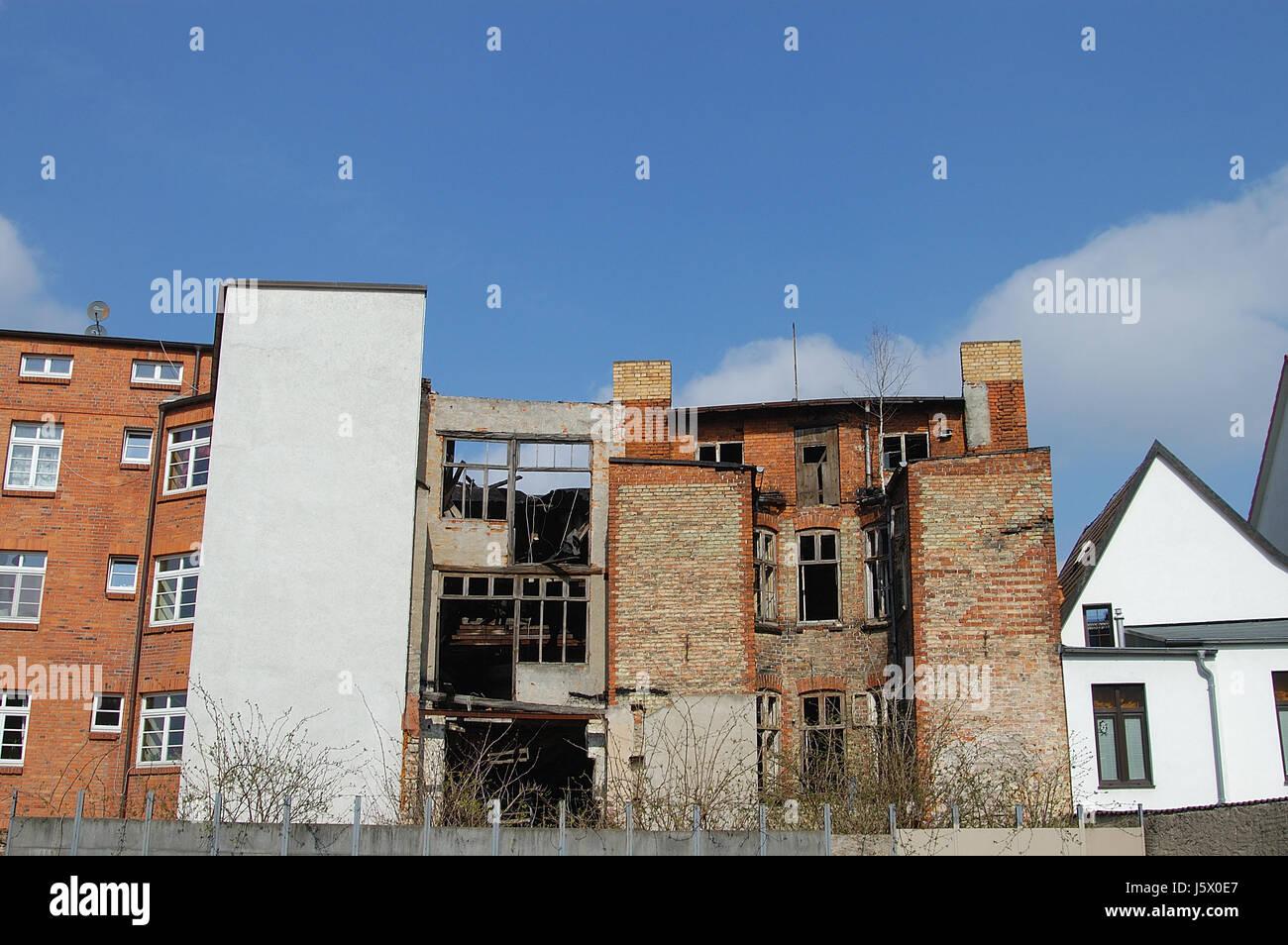 backyard in wismar - Stock Image