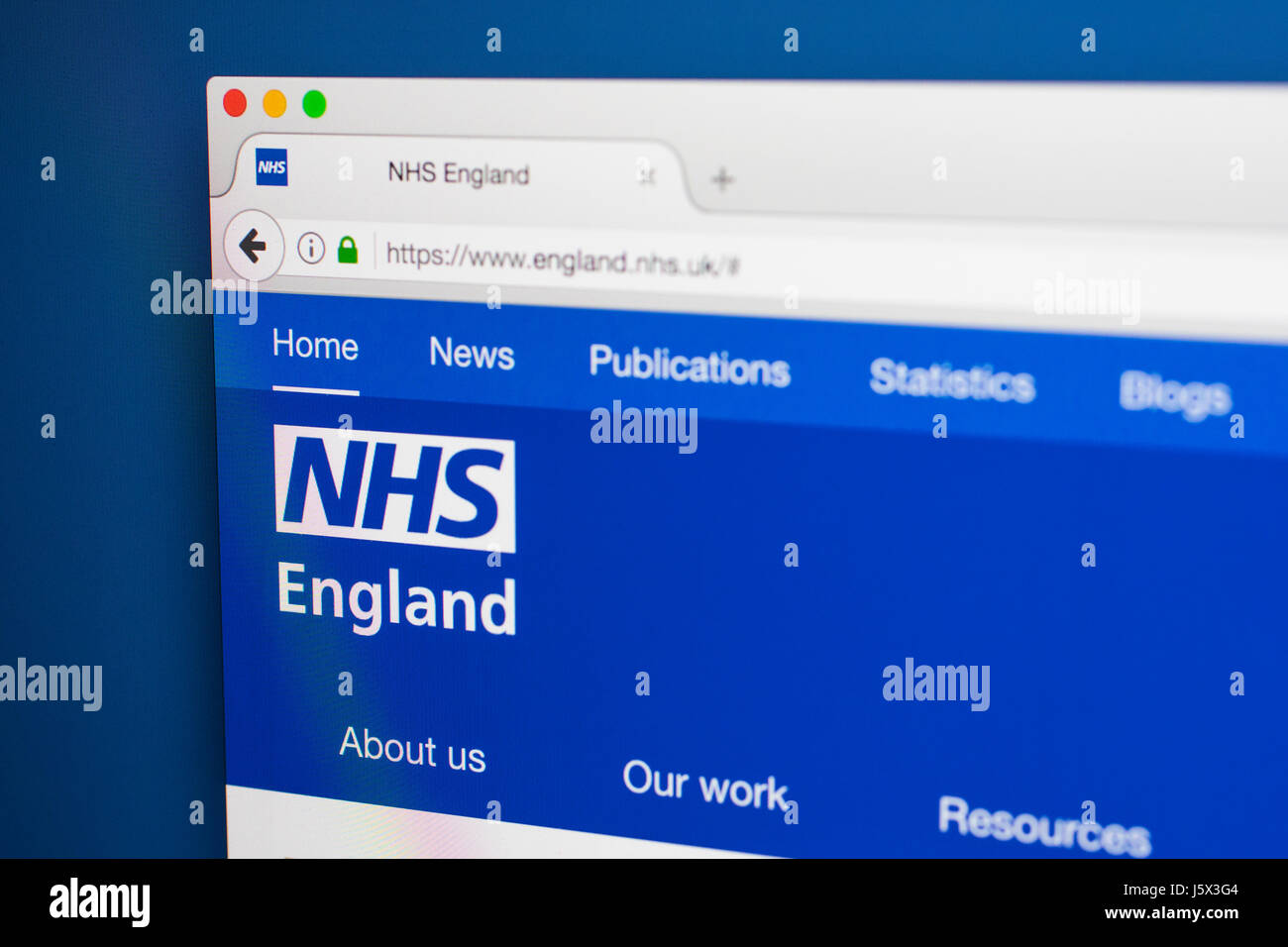 LONDON, UK - MAY 17TH 2017: The homepage of the official website for the National Health Service in England, on - Stock Image