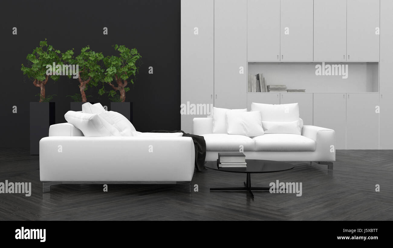 Comfortable Minimalist Living Room Interior Decor With Large