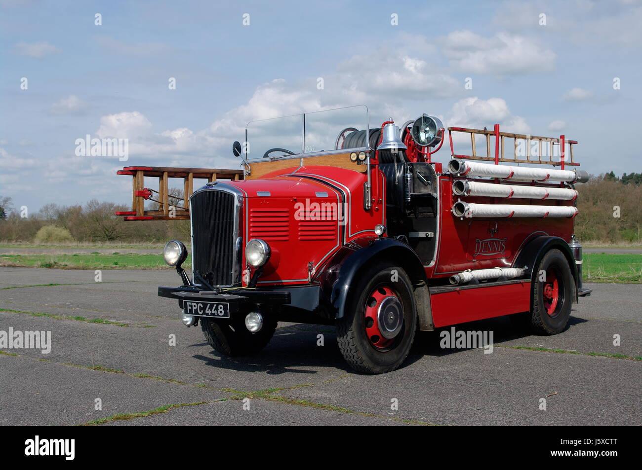 1936 Dennis Ace Fire Engine - Stock Image