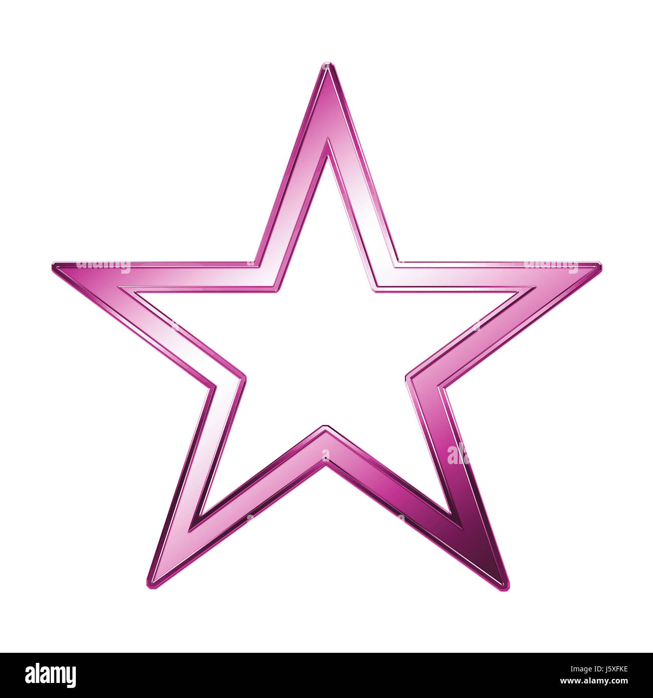 asterisk symbolic silver metal brilliance magenta lovely metallic shooting star - Stock Image