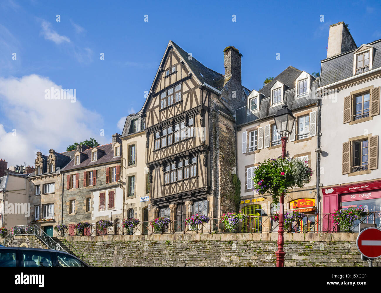 France, Brittany, Finistére department, Morlaix, Duchess Anne's House at Place Allende - Stock Image