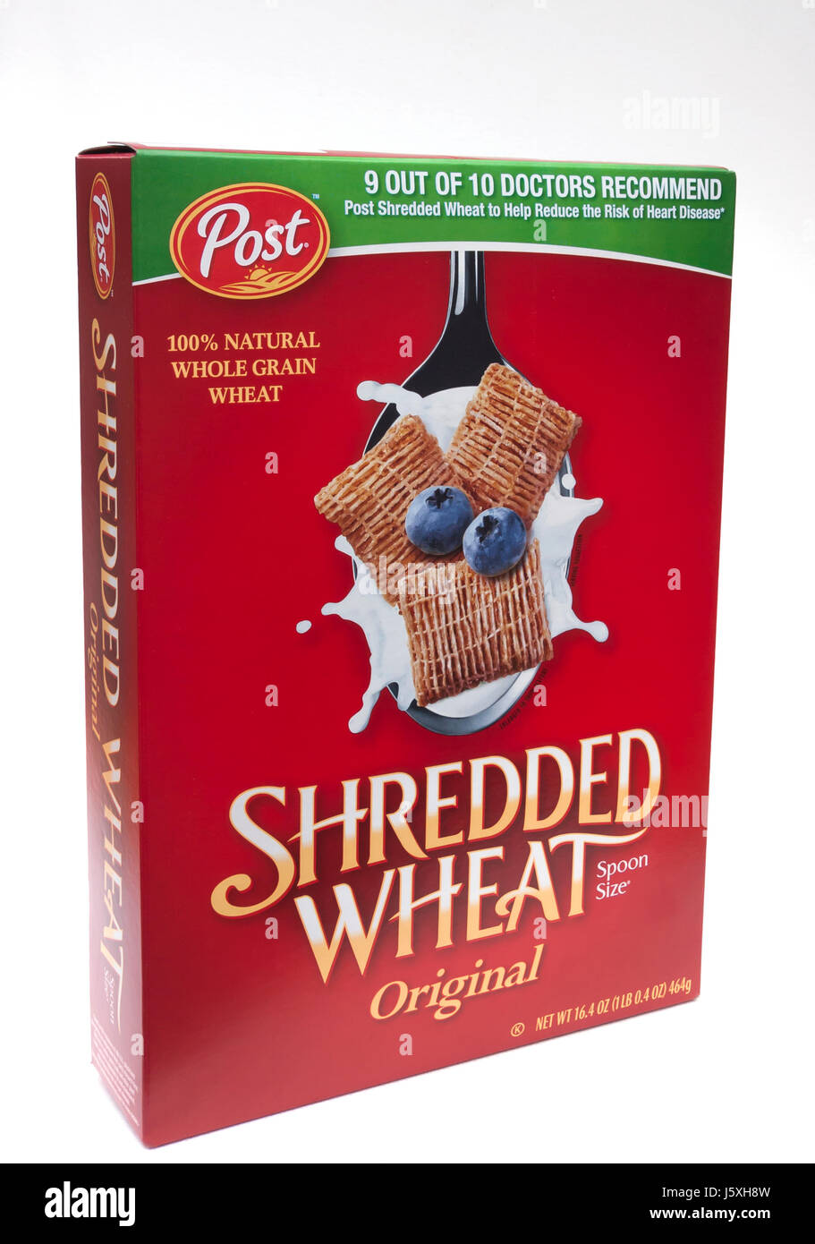 Shredded Wheat Original Cereal box. - Stock Image