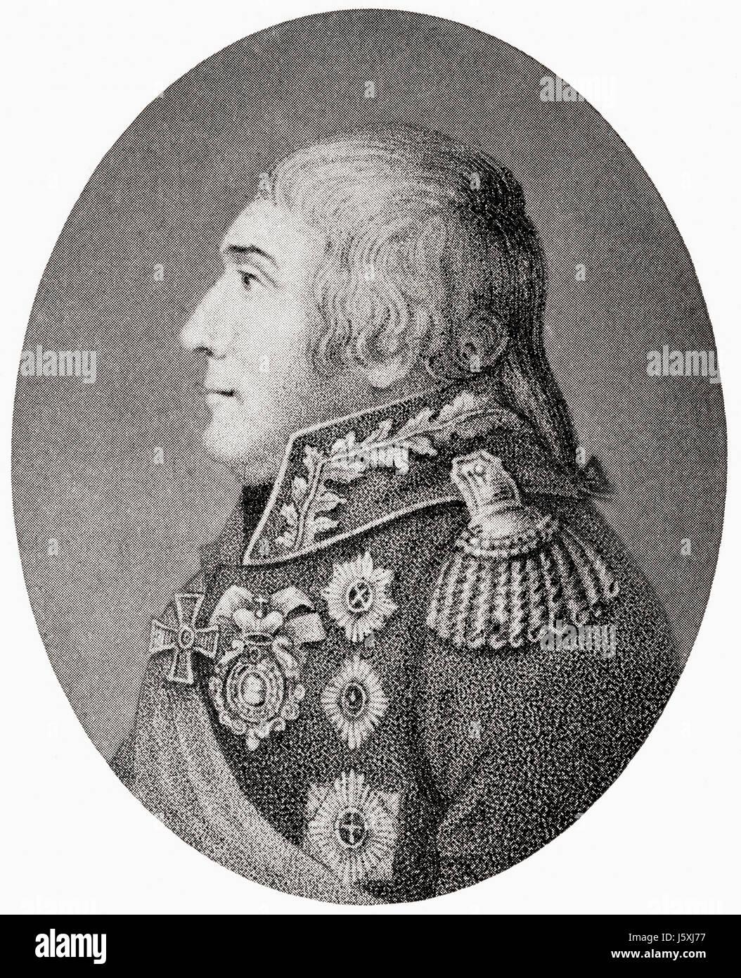Prince Mikhail Illarionovich Golenishchev-Kutuzov, 1745 – 1813.  Field Marshal of the Russian Empire.  From Hutchinson's - Stock Image