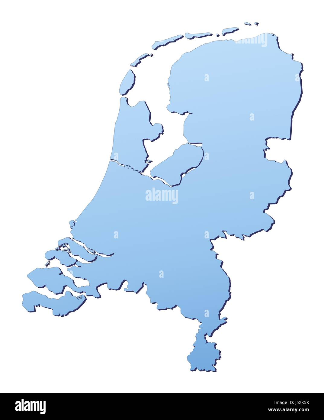 Blue Isolated Holland Netherlands Outline Map Atlas Map Of The World