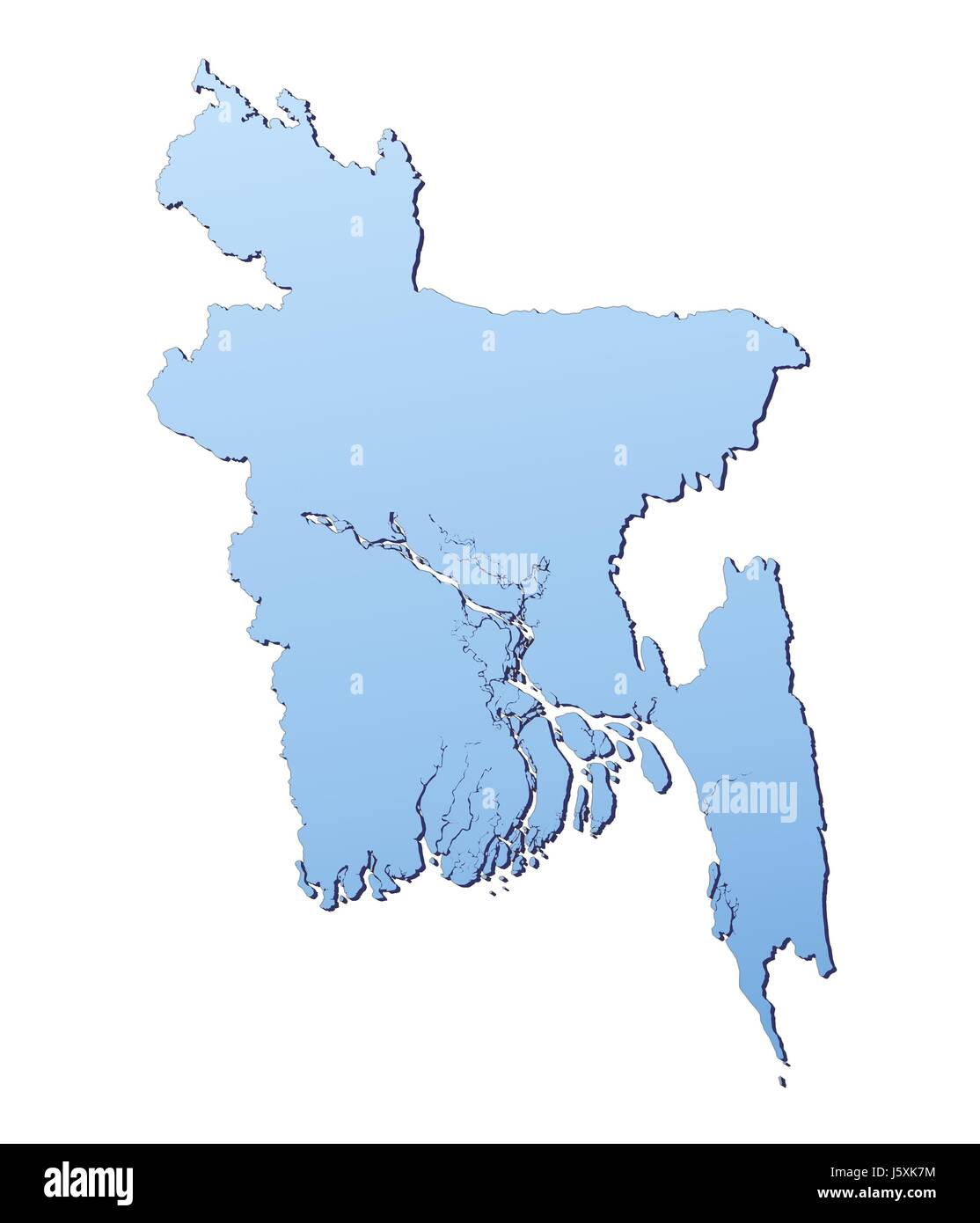 Outline Map Bangladesh Cut Out Stock Images Pictures Alamy