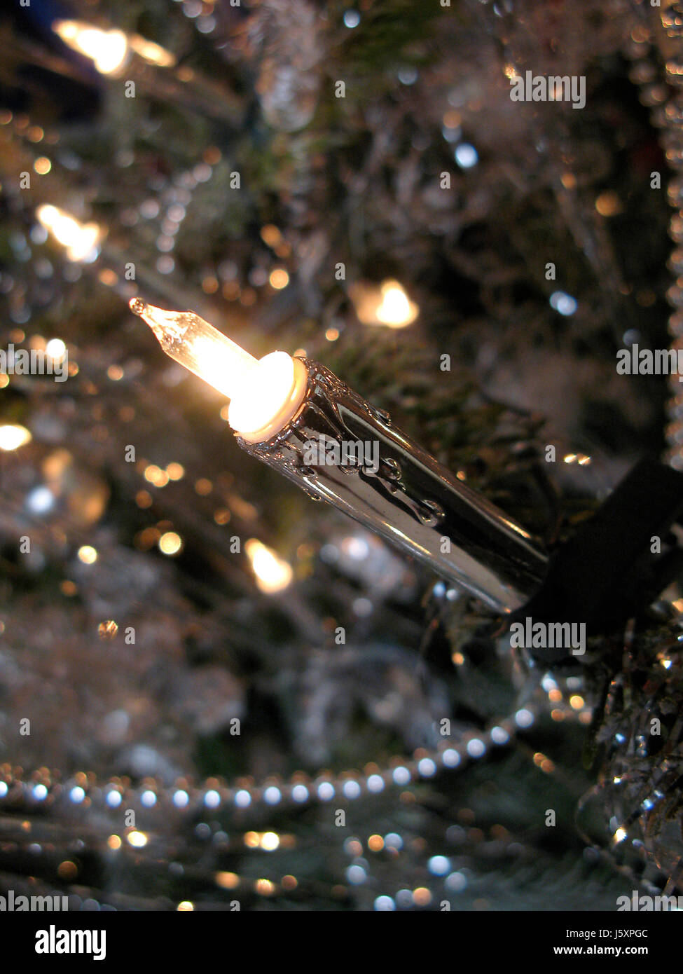 Electric Candle On The Christmas Tree Stock Photo 141344684 Alamy