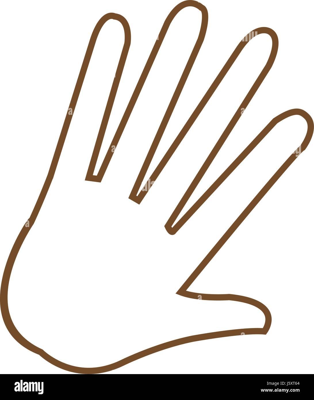 hand palm human symbol image - Stock Vector