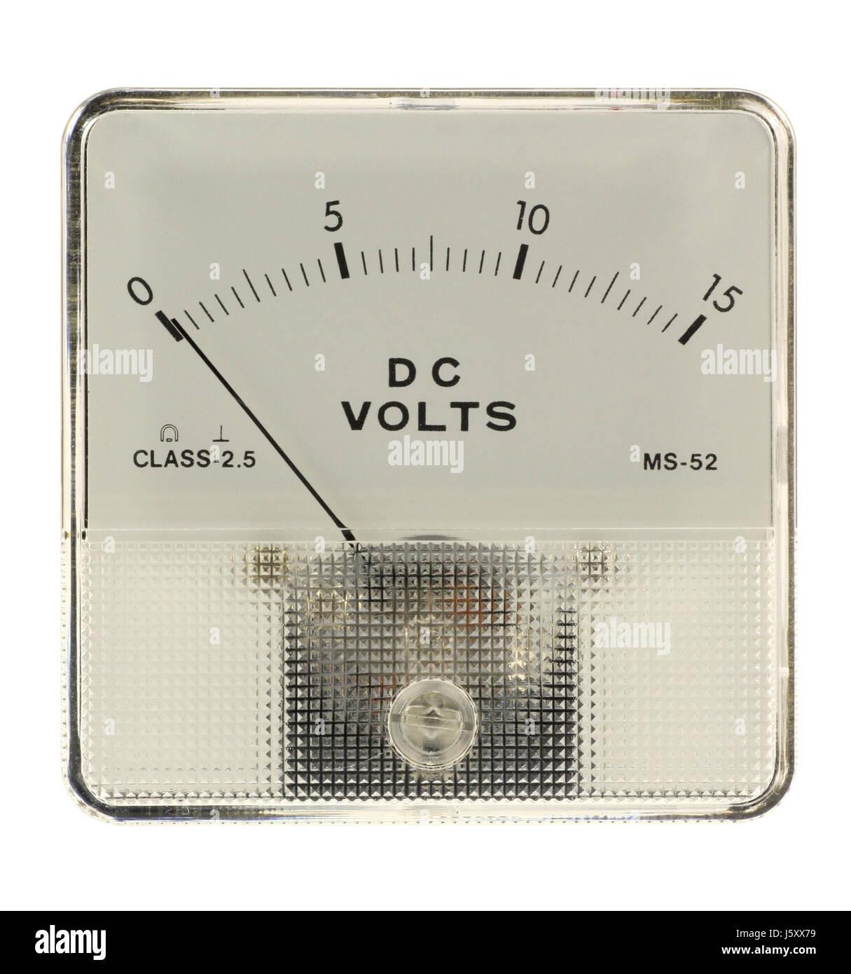 electric voltage meter measurement dial gauge voltmeter measure ...