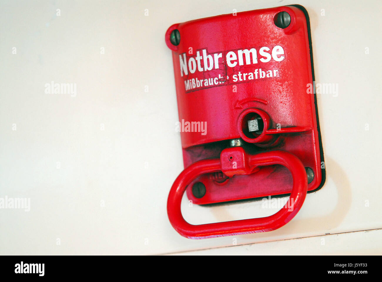 emergency communication-cord air brake security safety railway locomotive  train - stock image