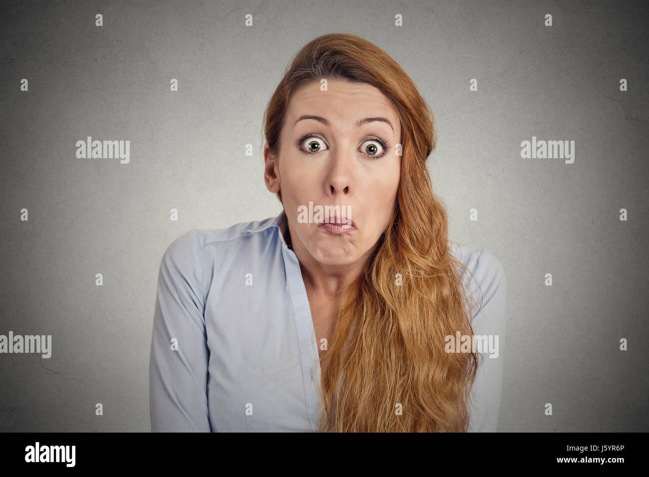 Woman has no Idea - Stock Image