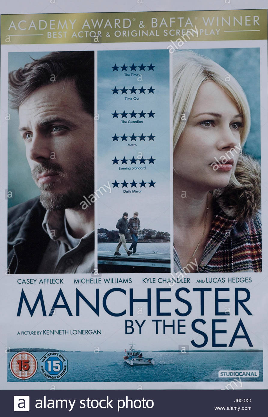 promotional poster for Manchester by the sea Stock Photo