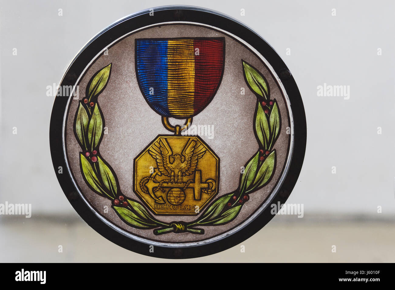 Remembrance of the American Armed forces, Medal of heroism - Stock Image