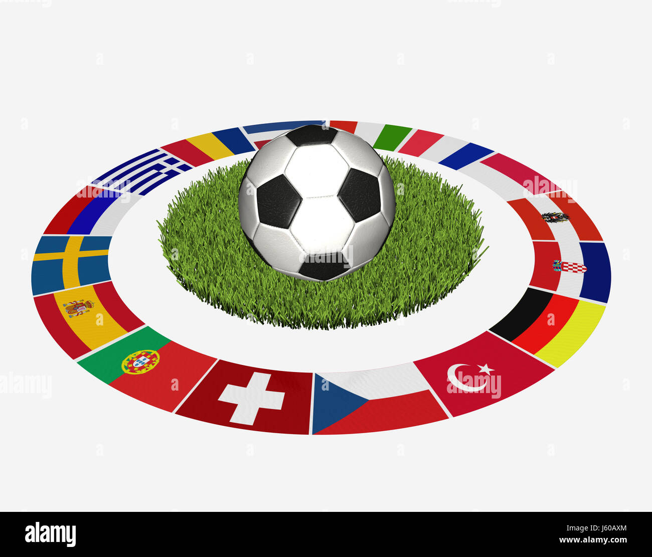 flags championship sport sports soccer football flags championship national Stock Photo