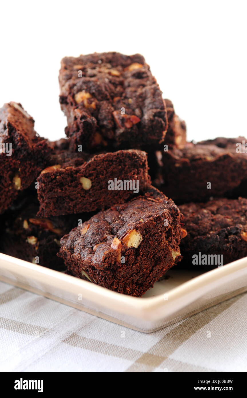 sweets cake pie snacks dessert chocolate food aliment sweet american brown - Stock Image