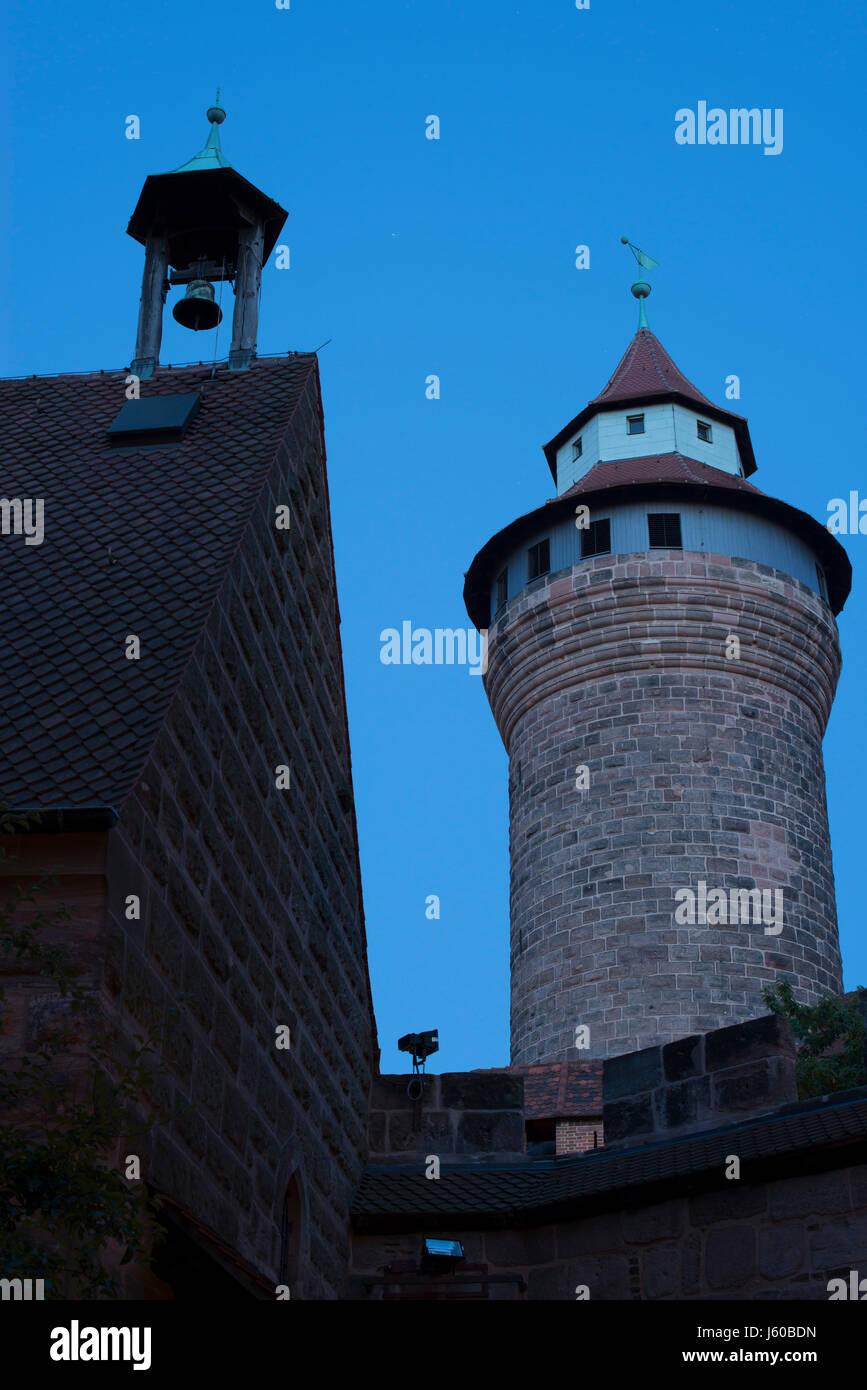Morgens auf der Nürnberger Burg. - Stock Image