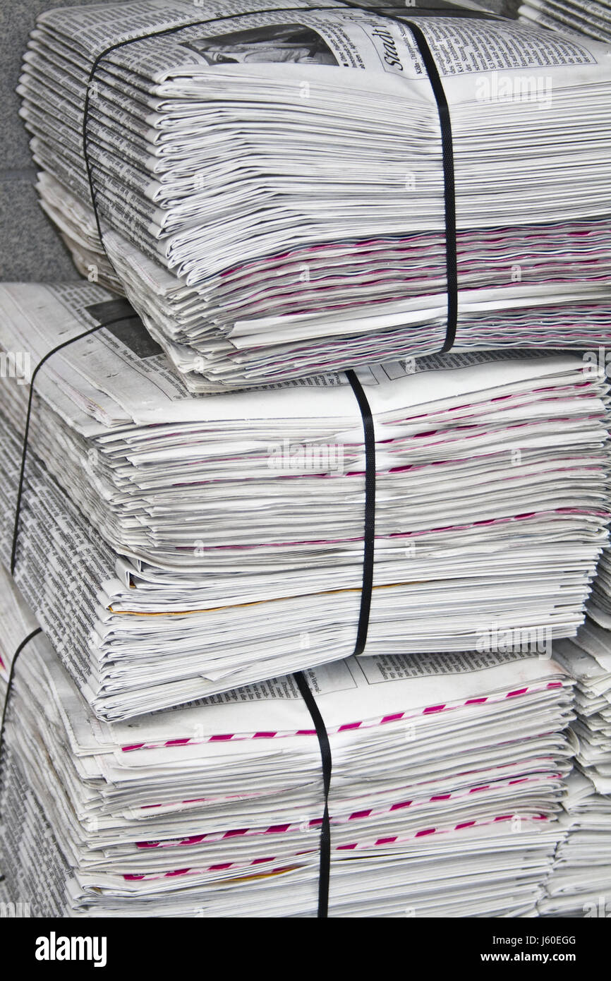 newspapers for readers - Stock Image