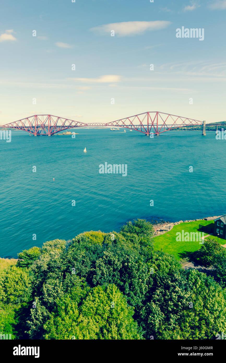 Forth Bridge, Edinburgh, Queensferry, Scotland, UK - Stock Image
