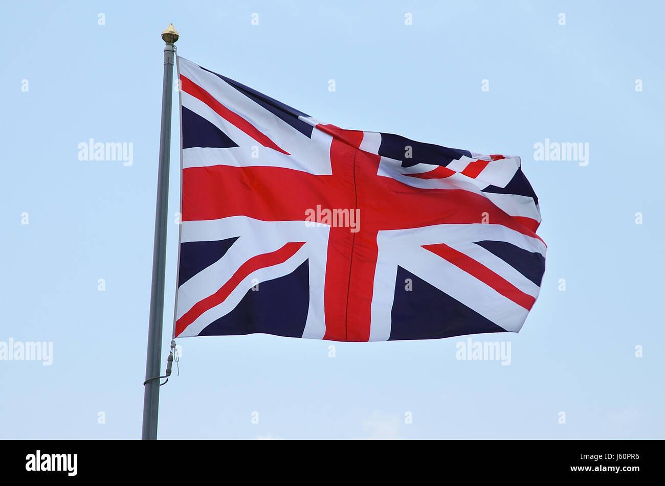 england joining flag kingdom unites britain sign signal blue graphic england - Stock Image