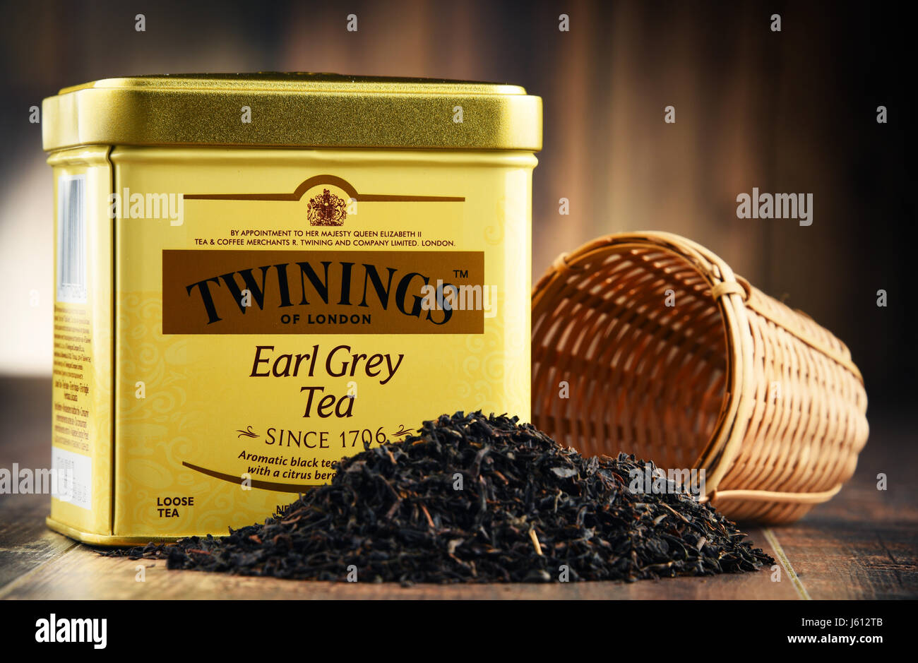 POZNAN, POLAND - MAR 31, 2017: Twinings is an English marketer of tea, located in Andover, Hampshire. The brand - Stock Image