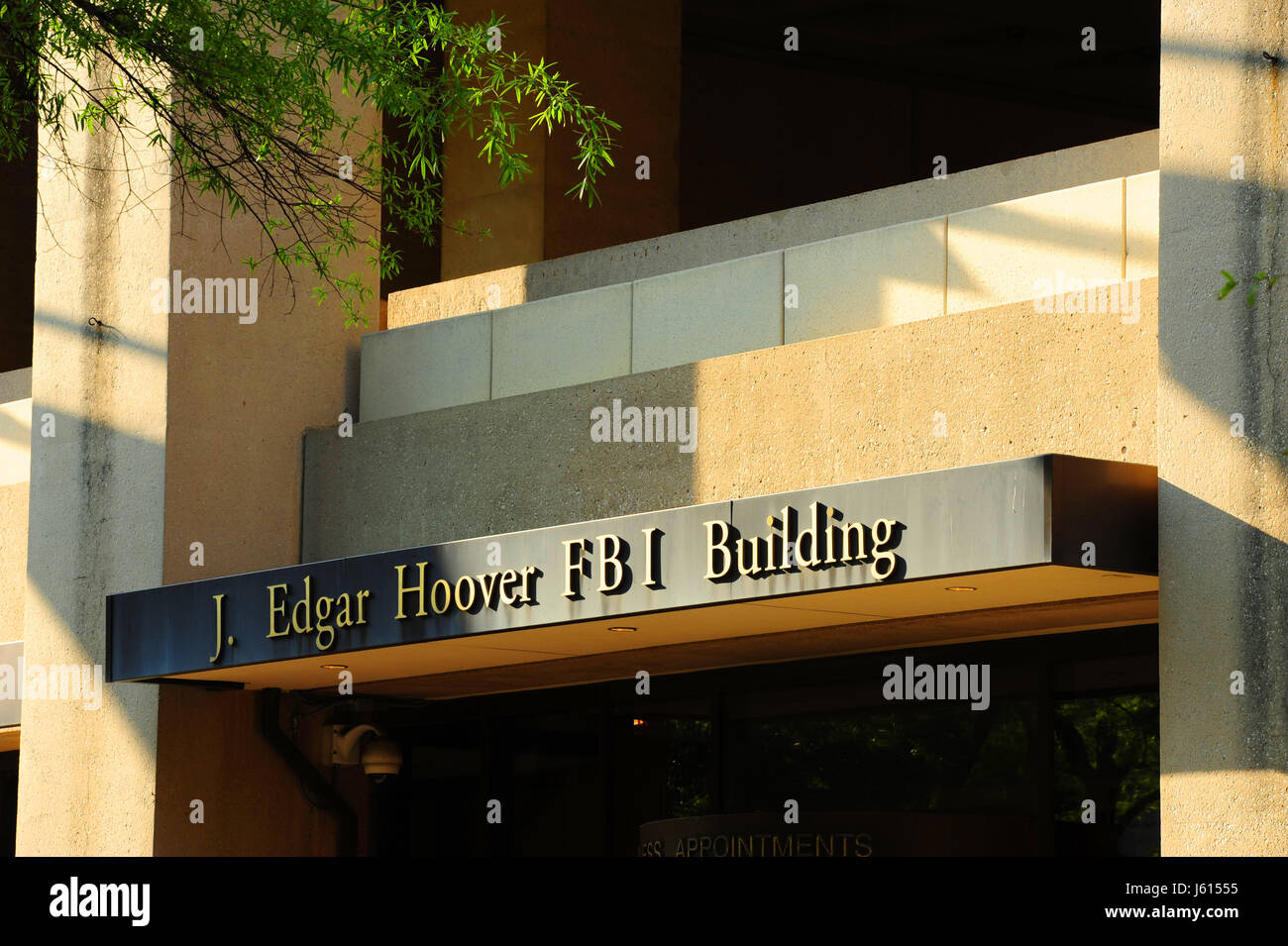 USA Washington DC FBI Federal Bureau of Investigation J. Edgar Hoover Building headquarters - Stock Image