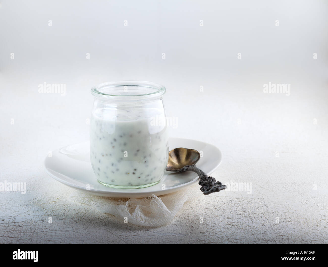 Chia Seed Pudding - Stock Image