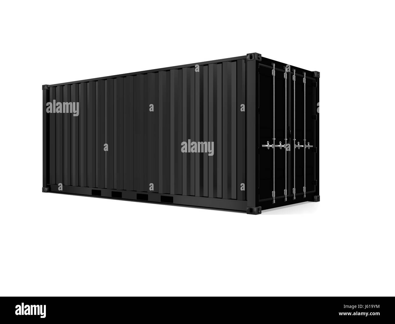 model design project concept plan draft transport open import container - Stock Image