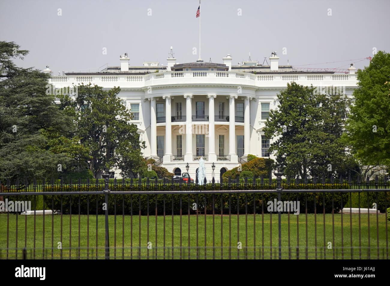 south facade of the white house Washington DC USA - Stock Image