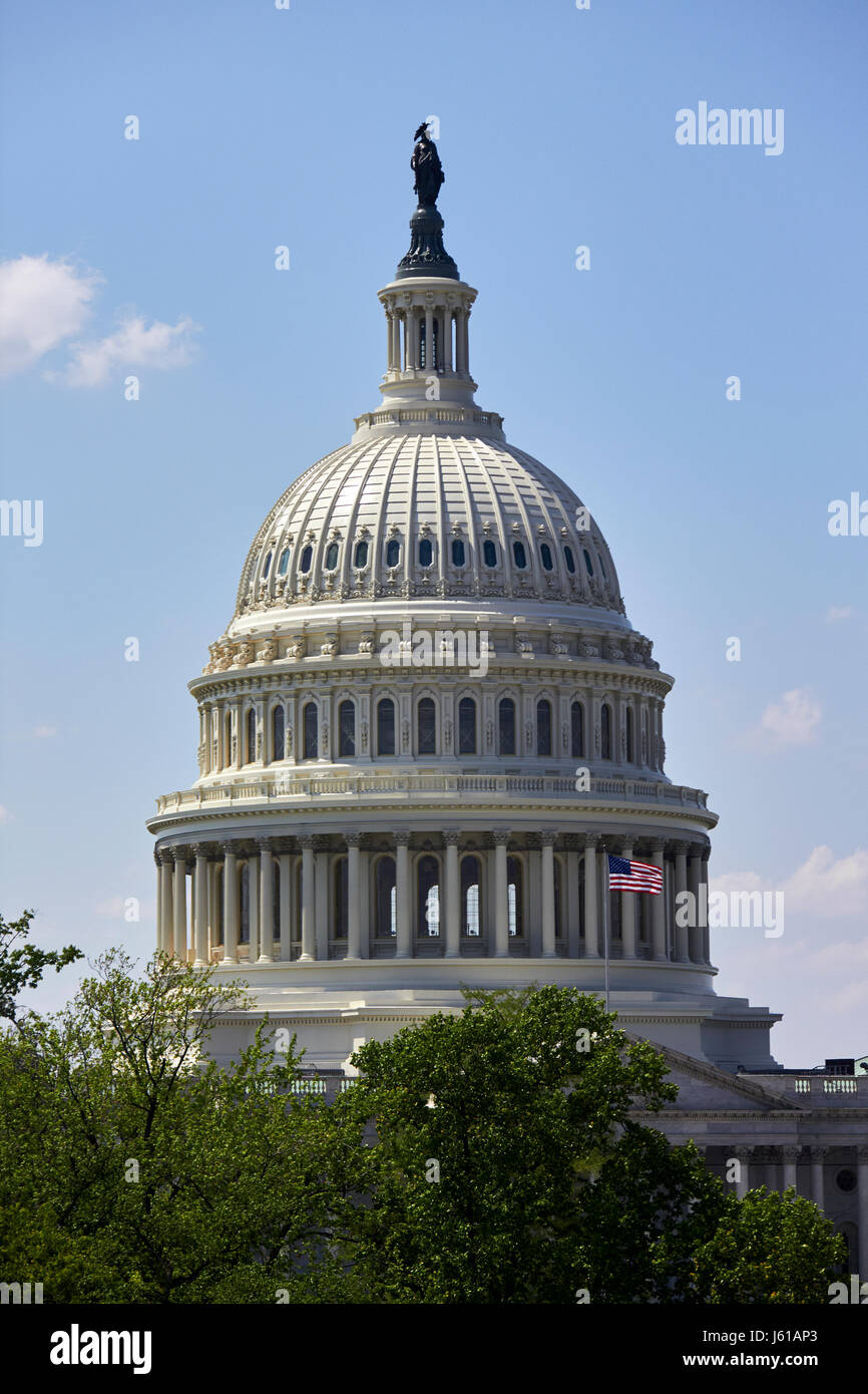 The dome of the US capitol building Washington DC USA - Stock Image