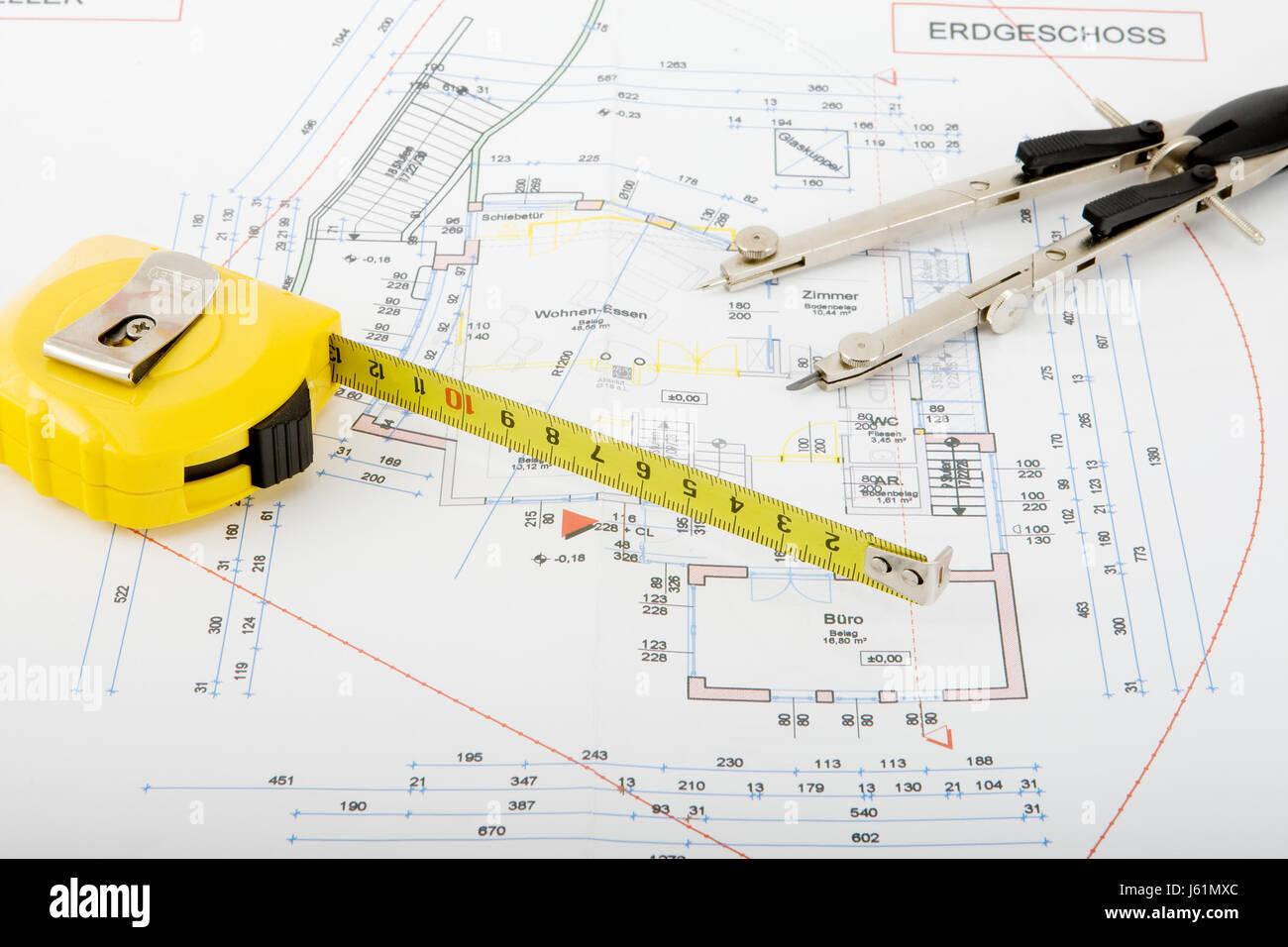 circle architect construction plan house building model design Stock ...