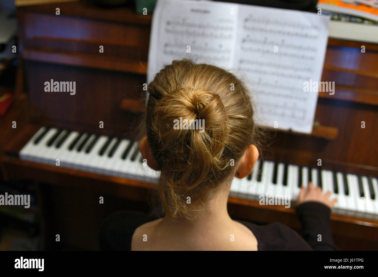 piano teacher - Stock Image