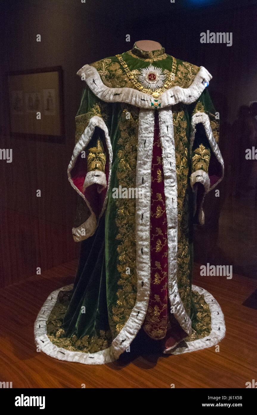 Austria, Vienna, Hofburg Imperial Palace, Schatzkammer Imperial Treasury, robe - Stock Image