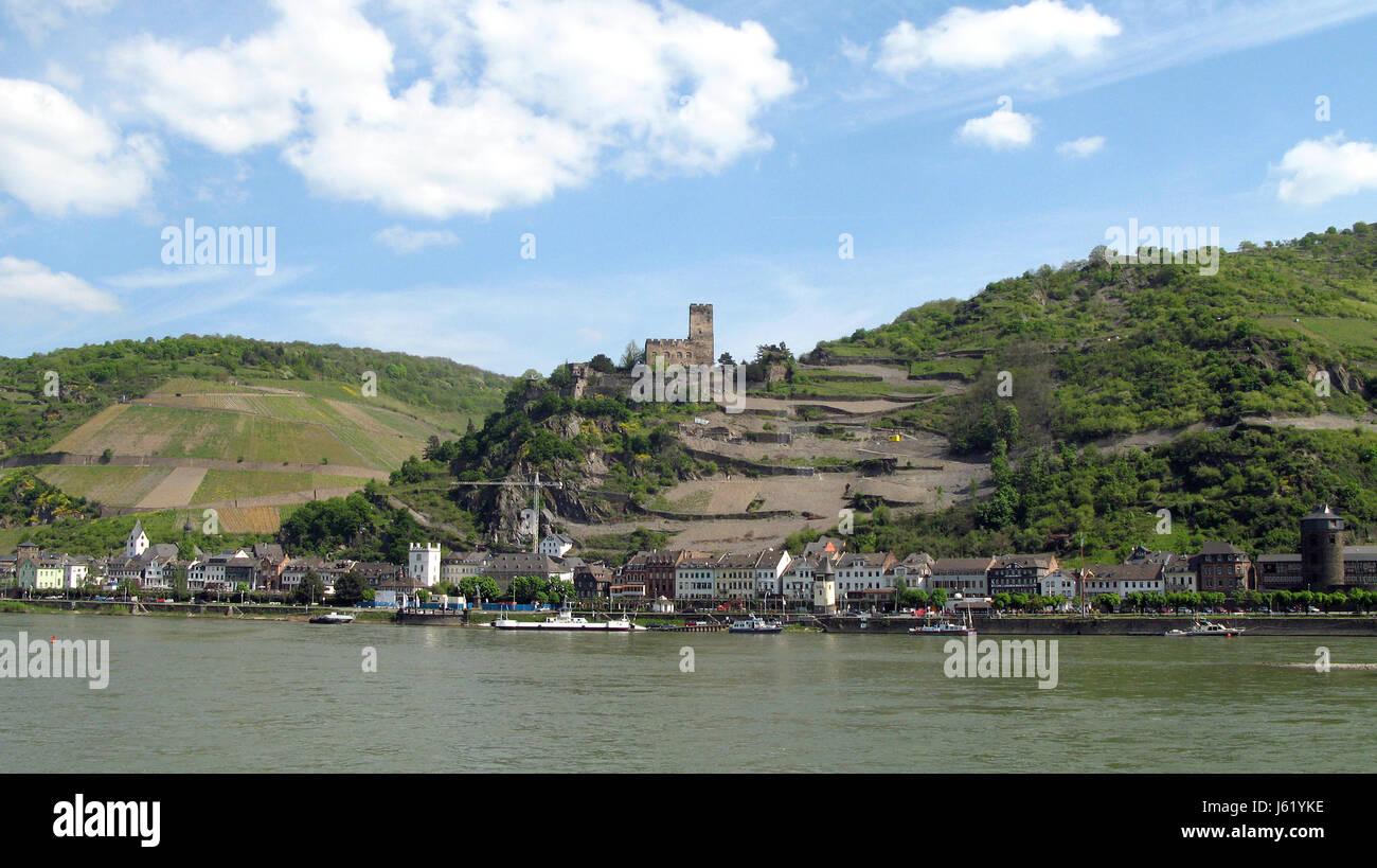 rhine vineyards valley world cultural heritage culture landscape loreley german Stock Photo
