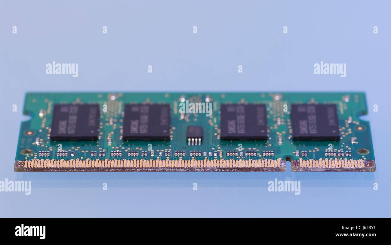 electronics chip virtual memory memory ram working memory computers computer Stock Photo