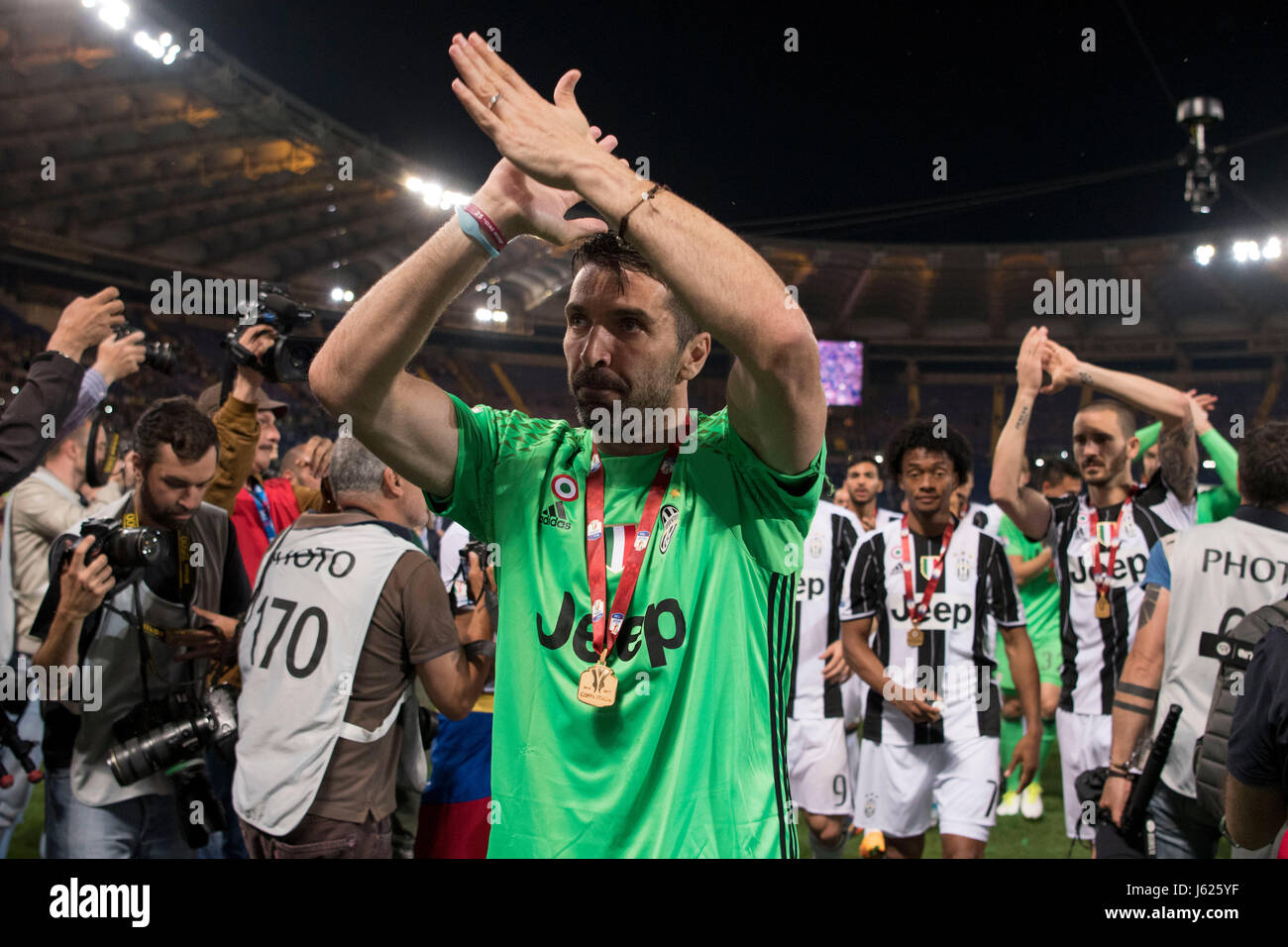 fbf48d773 Gianluigi Buffon (Juventus) Football Soccer   Gianluigi Buffon of Juventus  celebrates after winning the Coppa Italia (TIM Cup) Final match between  Juventus ...