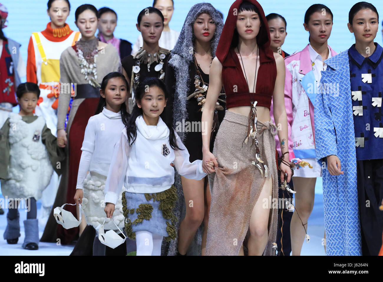 Beijing China 18th May 2017 Models Present Creations Designed By Stock Photo Alamy