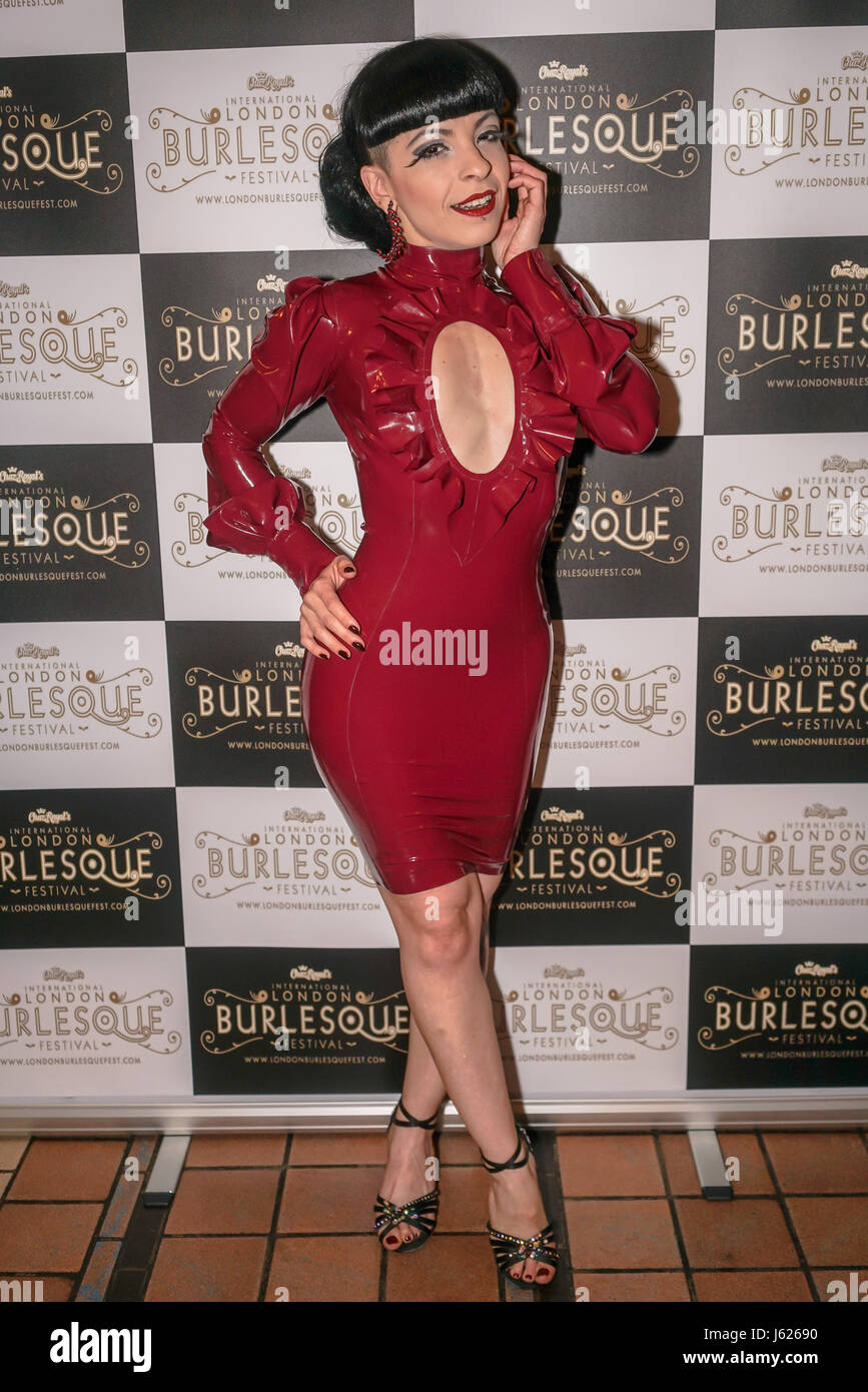 London, UK. 18th May, 2017. Prefomer Louise L'Amour, Portugal at the London Burlesque Festival the VIP Opening - Stock Image
