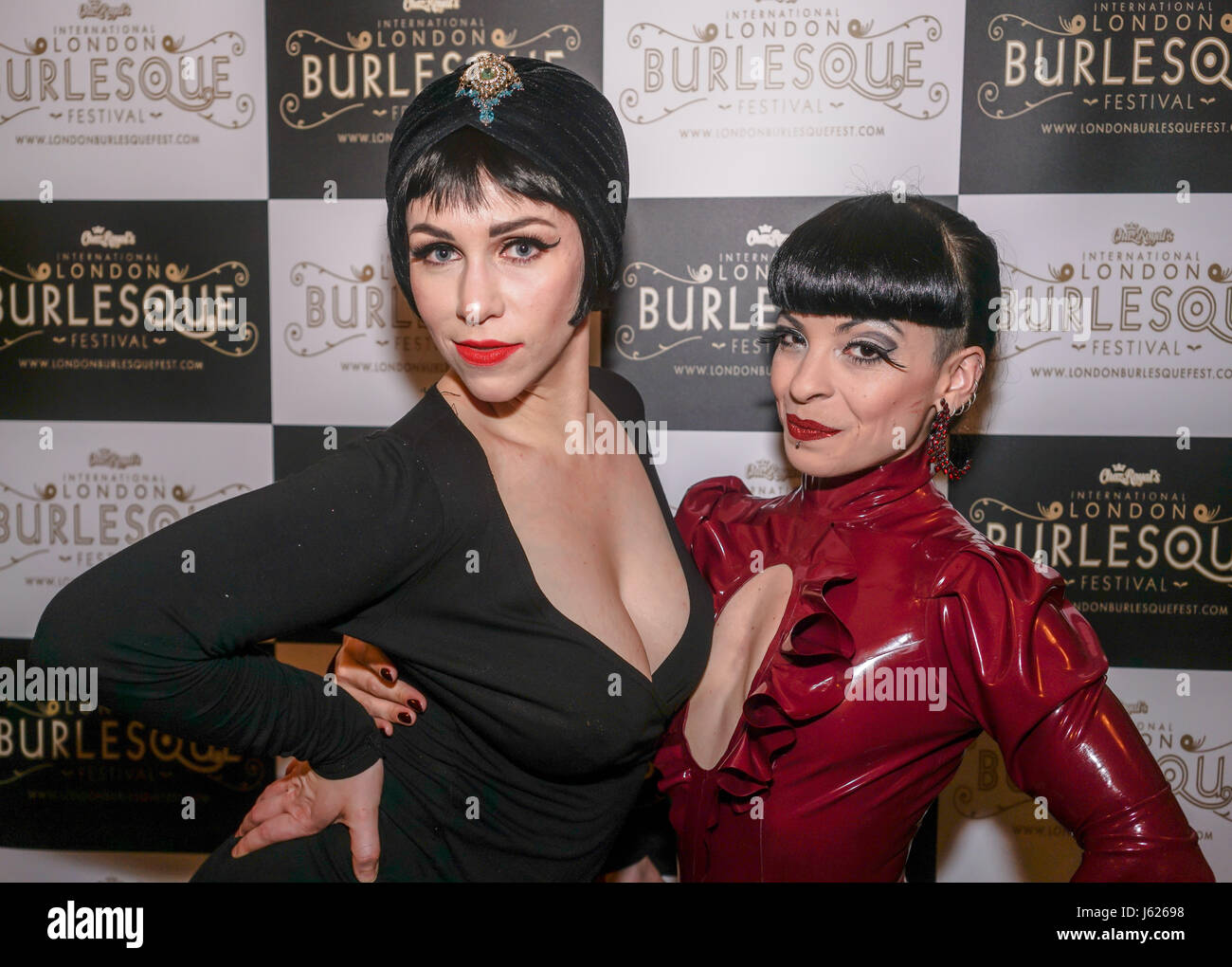 London, UK. 18th May, 2017. Prefomer Whisky Falls and Louise L'Amour at the London Burlesque Festival the VIP - Stock Image