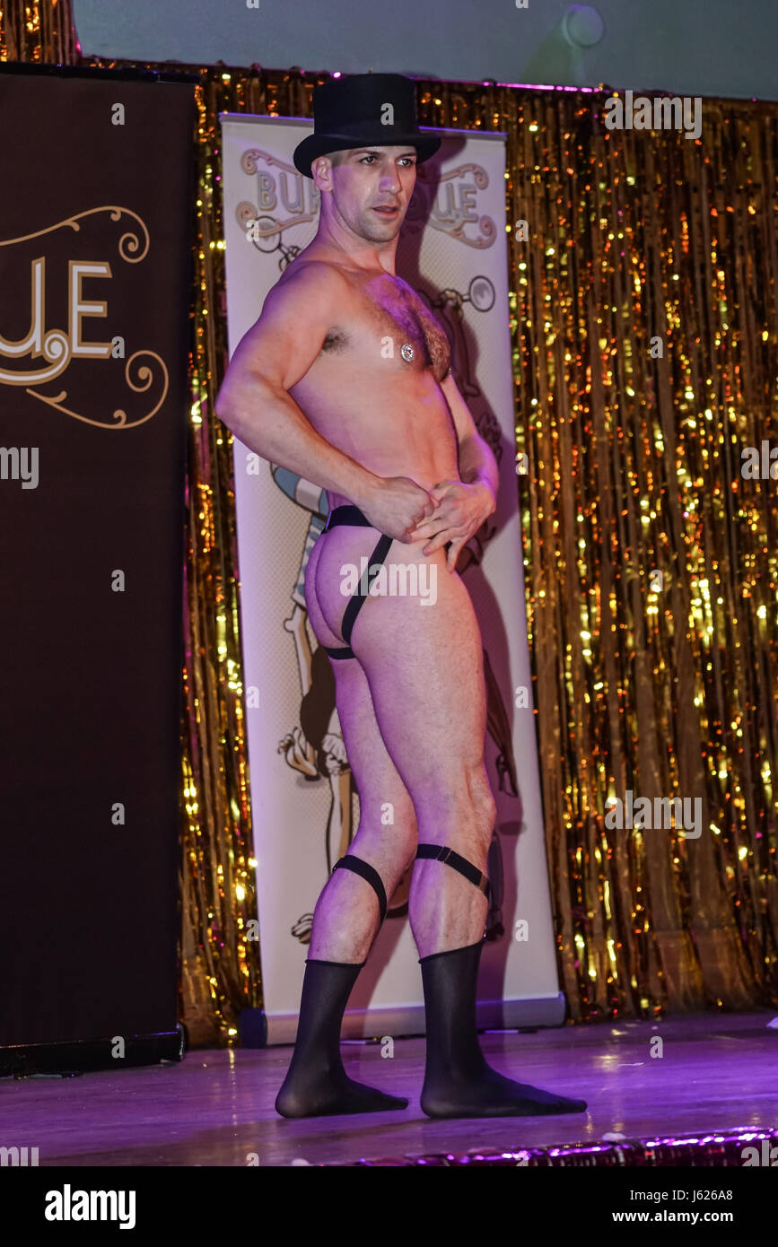 London, UK. 18th May, 2017. Laura Desiree, Canada performs at the London Burlesque Festival the VIP Opening Gala - Stock Image