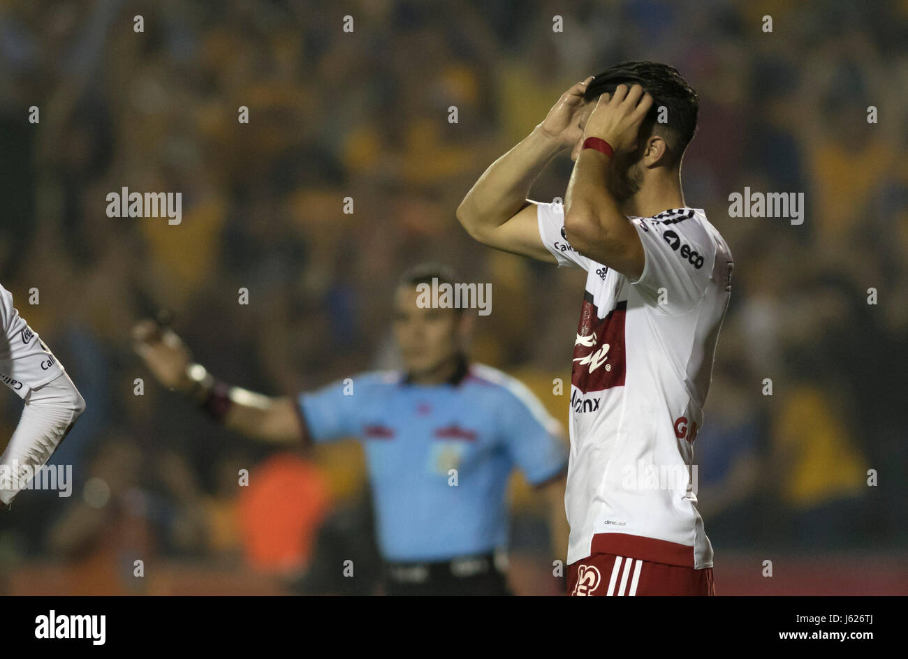 Xolos de Tijuana player Guido Rodriguez regrets a play against Tigres during the match corresponding to the first - Stock Image