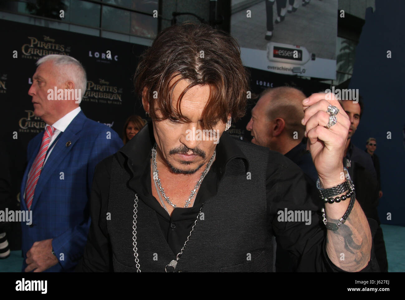 Hollywood, Ca. 18th May, 2017. Johnny Depp, At Premiere Of Disney's 'Pirates Of The Caribbean: Dead Men - Stock Image